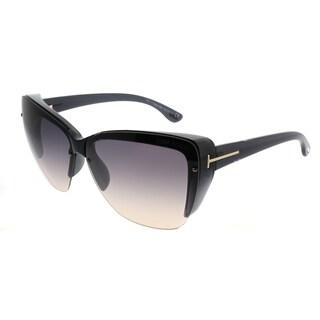 Tom Ford Cat-Eye TF 457 Poppy 20B Women Black Frame Grey Gradient Lens Sunglasses