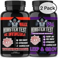 Angry Supplements Monster Test Maxx and Monster Test PM Test Boost