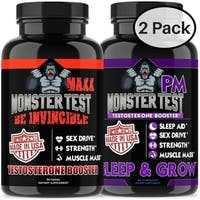 Shop Angry Supplements Monster Test (120 Count) and Monster Test PM