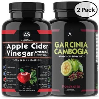 Angry Supplements Apple Cider Vinegar Pills & Garcinia with Forskolin (120 Count)
