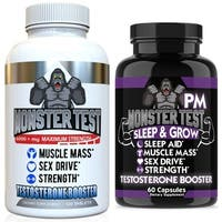 Angry Supplements Monster Test (120 Count) and Monster Test PM (60 Count)