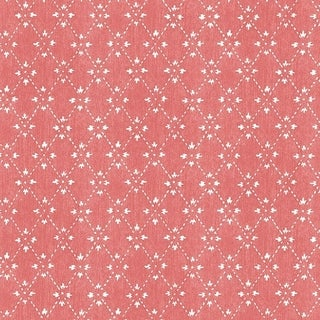 Manhattan Comfort Lakeland 32.7 Ft. x 20.5 In. Vinyl Red Spot Trellis Wallpaper Covering