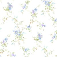 Manhattan Comfort Coral Springs 32.7 Ft. x 20.5 In. Vinyl Green Floral Trail Wallpaper Covering