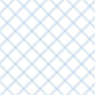 Manhattan Comfort Clermont 32.7 Ft. x 20.5 In. Vinyl Blue Plaid Wallpaper Covering