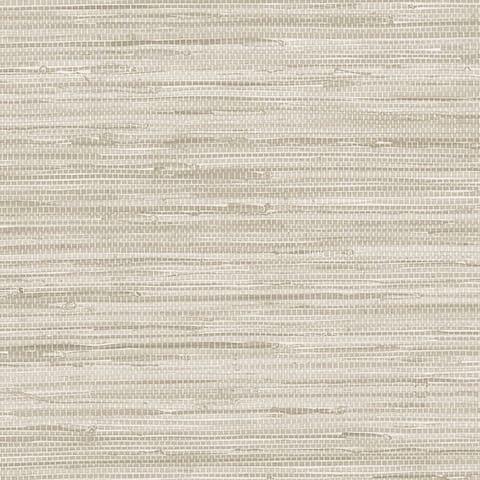 Manhattan Comfort Scranton 32.7 Ft. x 20.5 In. Vinyl Off White Faux Grasscloth Wallpaper Covering - 32.7 Ft. x 20.5 In.