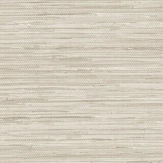 Manhattan Comfort Scranton 32.7 Ft. x 20.5 In. Vinyl Off White Faux Grasscloth Wallpaper Covering