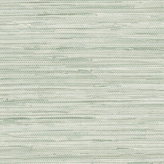 Manhattan Comfort Scranton 32.7 Ft. x 20.5 In. Vinyl Green Faux Grasscloth Wallpaper Covering