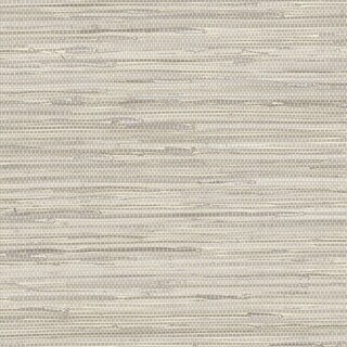 Manhattan Comfort Scranton 32.7 Ft. x 20.5 In. Vinyl Taupe Faux Grasscloth Wallpaper Covering