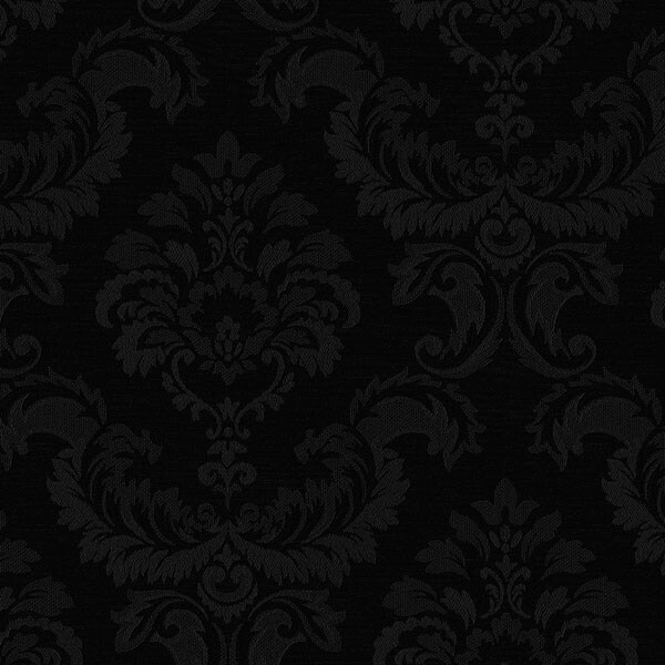 Manhattan Comfort Hyattsville 32 7 Ft X 20 5 In Vinyl Black Silk Damask Wallpaper Covering