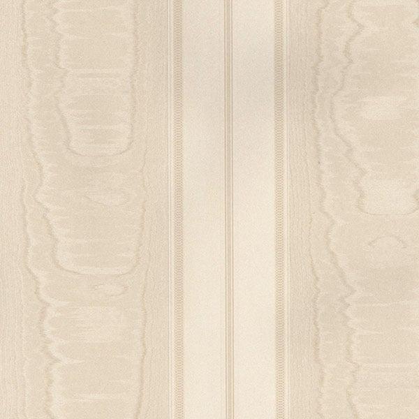 Manhattan Comfort Aberdeen 32.7 Ft. x 20.5 In. Vinyl Tan Silk Stripe Wallpaper Covering