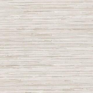 Manhattan Comfort Elmhurst 32.7 Ft. x 20.5 In. Vinyl Grey Horizontal Faux Grasscloth Wallpaper Covering