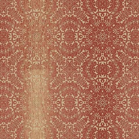 Manhattan Comfort Peoria 32.7 Ft. x 20.5 In. Vinyl Red Mini Damask Stripe Wallpaper Covering