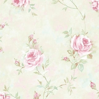 Link to Manhattan Comfort Brentwood 32.7 Ft. x 20.5 In. Vinyl Green Vineyard Roses Wallpaper Covering Similar Items in Hardware