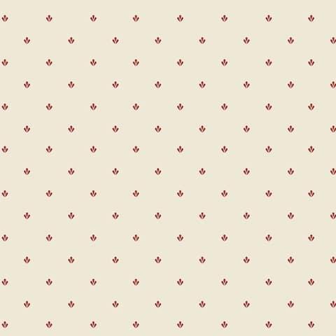 Manhattan Comfort Norfolk 32.7 Ft. x 20.5 In. Vinyl Red Mini Floral Harlequin Wallpaper Covering