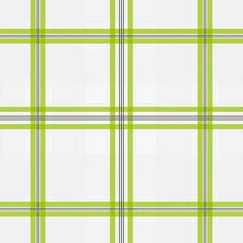 Manhattan Comfort Portsmouth 32.7 Ft. x 20.5 In. Vinyl Green Plaid Wallpaper Covering