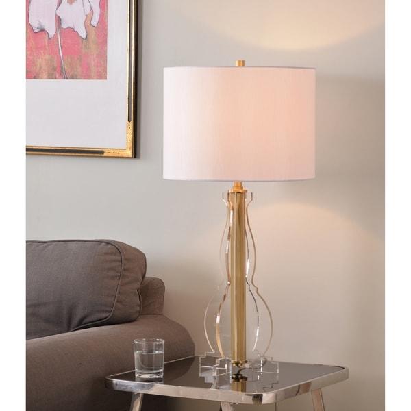 "Rowan 29"" Table Lamp - Clear Acrylic and Gold Finish"