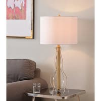 "Rowan 29"" Table Lamp - Clear Acrylic and Gold Finish"