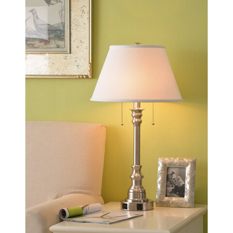 "Davies 30.5"" Table Lamp - Brushed Steel"