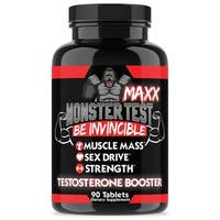 Angry Supplements Monster Test Maxx Maximum Strength Testosterone Booster (90 Count)