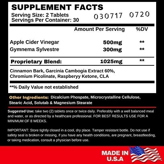 Shop Angry Supplements Apple Cider Vinegar Tablets Turmeric