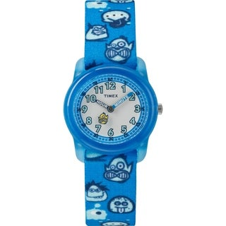 Timex Boys TW7C25700 Time Machines Blue/Monsters Elastic Fabric Strap Watch - Blue