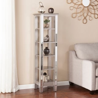 Harper Blvd Vedlin Matte Silver Mirrored 5-Tier Bookcase