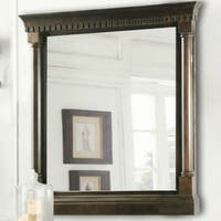 24 in. x 33 in. Framed Wall Mirror in Antique Coffee