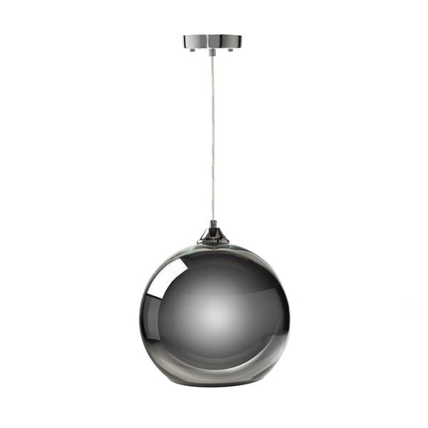 Single Sphere Pendant Lamp- Chrome Large - N/A