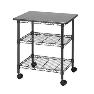 Suprima Desk Station Rolling Rack - Gunmetal Gray
