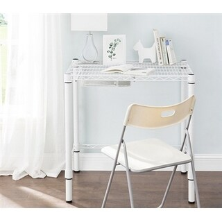 Suprima Heavy Duty Carbon Steel Desk - Compact Size - White (2 options available)