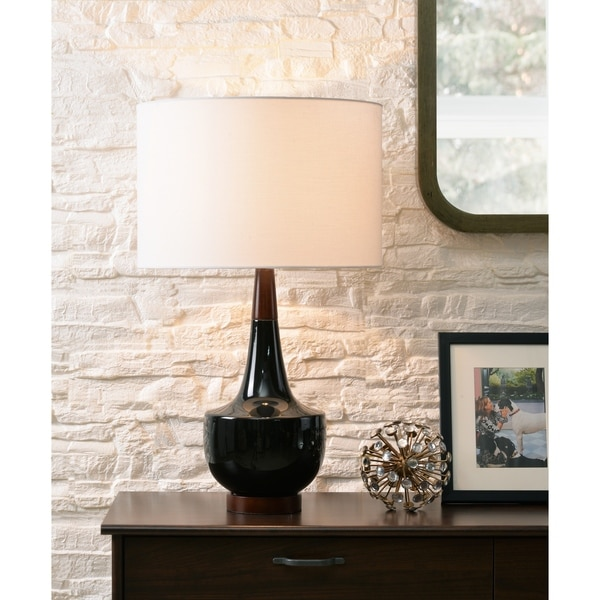 Shop Marlo 26 Table Lamp Black Ceramic On Sale Free Shipping