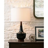 "Marlo 26"" Table Lamp - Black Ceramic"