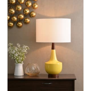 Marlo 26 Table Lamp Mustard Ceramic