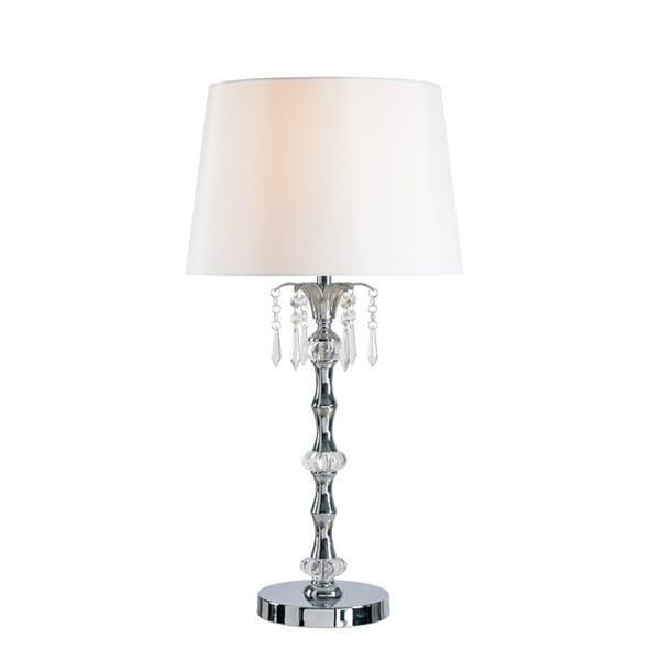 "Design Craft Naomi 27.5"" Table Lamp - Chrome Finish"