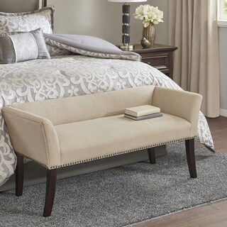 Madison Park Antonio Cream Upholstered Accent Bench