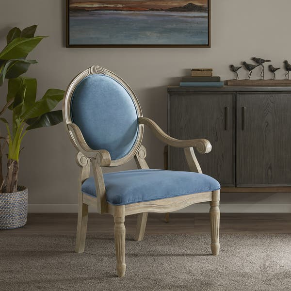 Enjoyable Shop Madison Park Cole Blue Accent Chair Free Shipping Machost Co Dining Chair Design Ideas Machostcouk