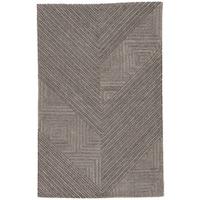 Auster Handmade Geometric Gray Area Rug - 8' X 11'