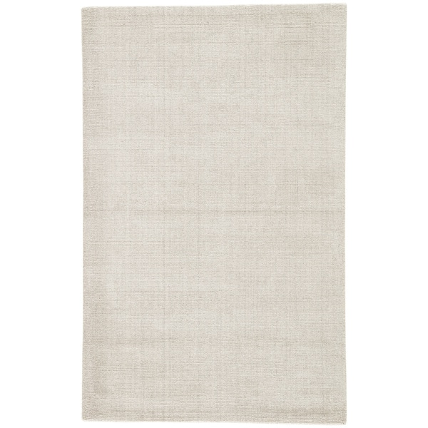 Minke Handmade Solid Beige/ Gray Area Rug (5' X 8') - 5' x 8'