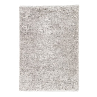 Cecily Solid Light Gray Area Rug (4' X 6') - 4' x 6'