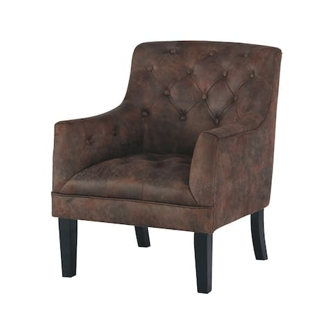 Drakelle Traditional Faux Leather Accent Chair