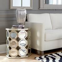 Ribbed Electroplated Ceramic Vase Medium