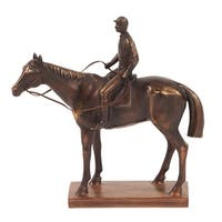 Bronze Jockey and Racehorse Sculpture