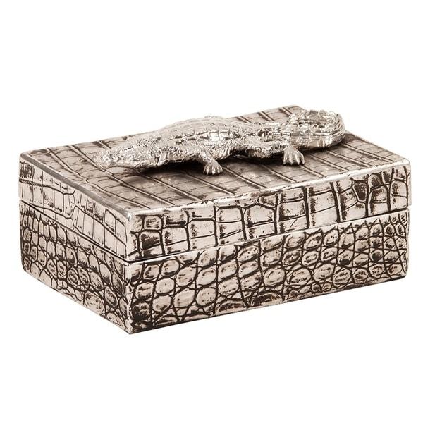 Faux Crocodile Texture Decorative Box
