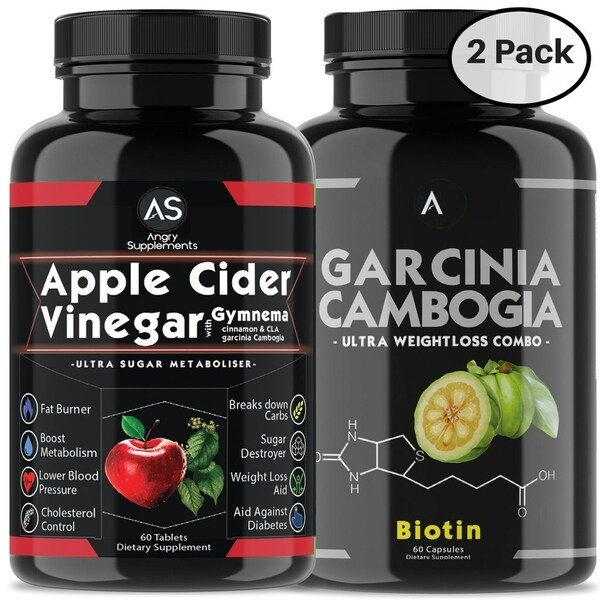 Angry Supplements Apple Cider Vinegar Pills And Garcinia With Biotin 120 Count