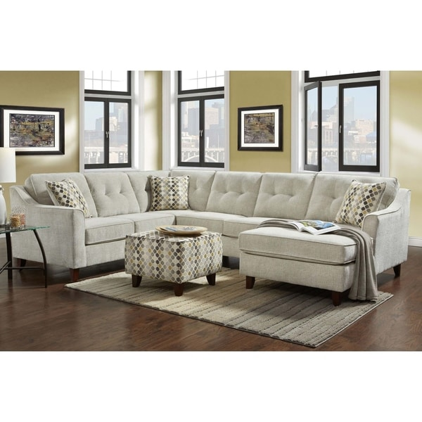 Cheap U Shaped Sofa Low Cost Modern Corner Leather Sofa: Shop Sofa Trendz Linden Sectional And Ottoman Set
