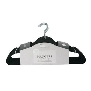 25 Pack Slim Velvet Suit Hangers in Black