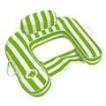 Drifter U-Seat Pool Float - Lime Green Luxury Fabric Swimming Pool Float - Morgan Dwyer Signature Series