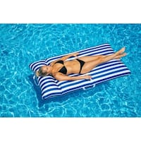 Drift and Escape Chaise Mattress - Navy Blue Luxury Fabric Float - Morgan Dwyer Signature Series