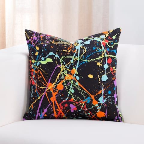 Crayola Neon Splat Throw Pillow
