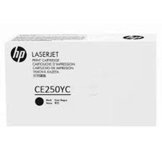 Genuine HP CE250YC Black Toner Cartridge,Extra High Yield (12k page yield)
